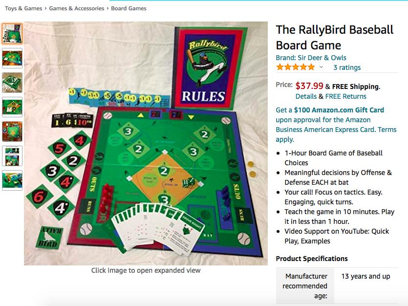 Where to Buy the #RallyBird #Baseball #BoardGameToday